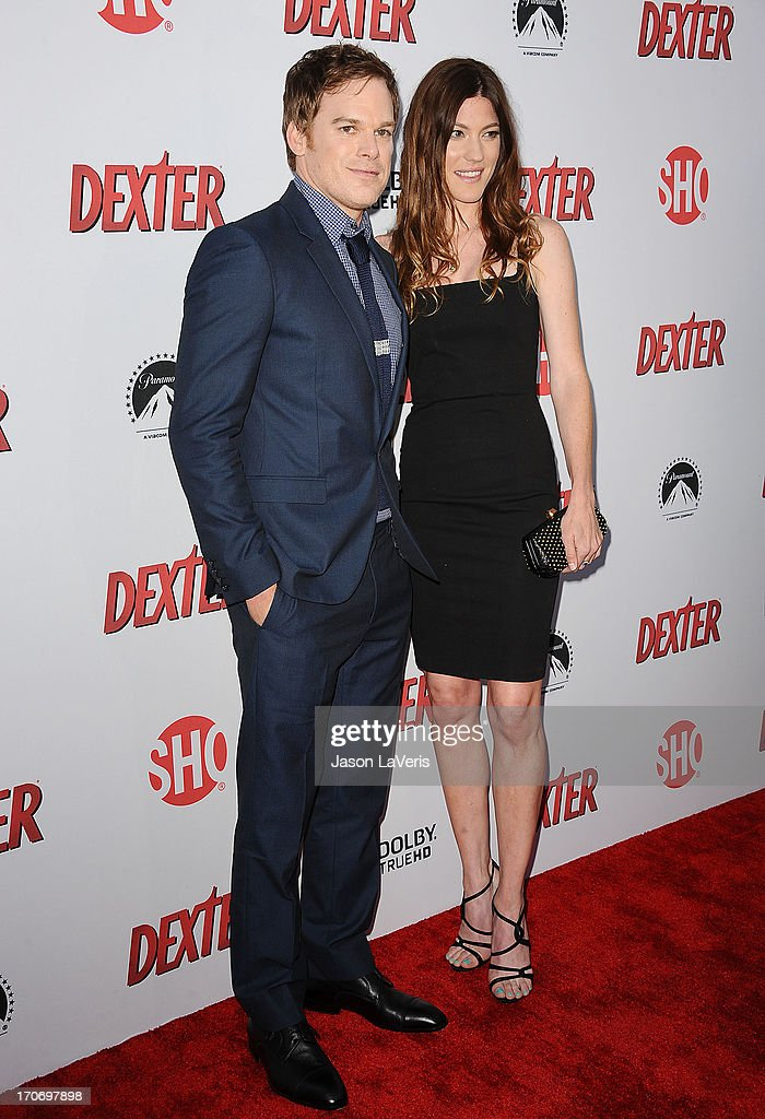Actor Michael C. Hall and actress Jennifer Carpenter attend the 'Dexter' series finale season premiere party at Milk Studios on June 15, 2013 in Hollywood, California.