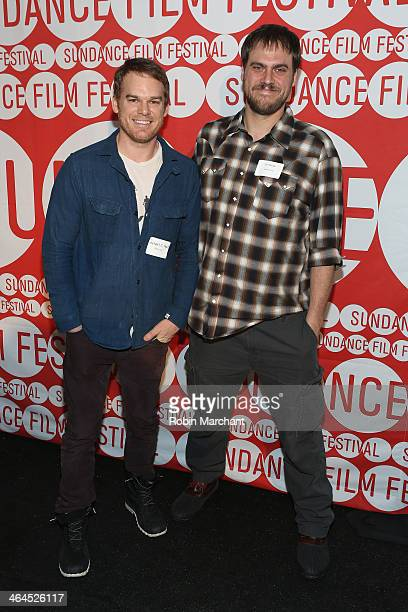 Actor Michael C Hall and director Jim Mickle attend the Feature Film Competition Dinner at The Shop during the 2014 Sundance Film Festival on January...