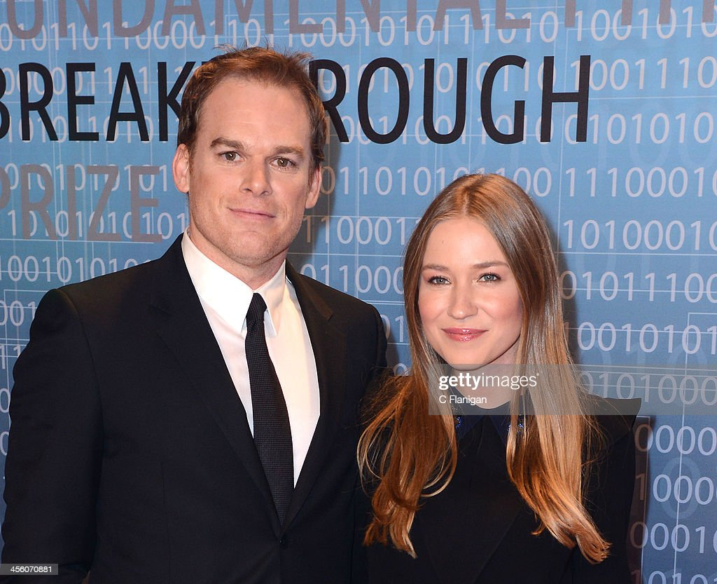 Actor <a gi-track='captionPersonalityLinkClicked' href=/galleries/search?phrase=Michael+C.+Hall+-+Actor&family=editorial&specificpeople=680229 ng-click='$event.stopPropagation()'>Michael C. Hall</a> and Morgan Macgregor arrive at the Breakthrough Prize Inaugural Ceremony at NASA Ames Research Center on December 12, 2013 in Mountain View, California.