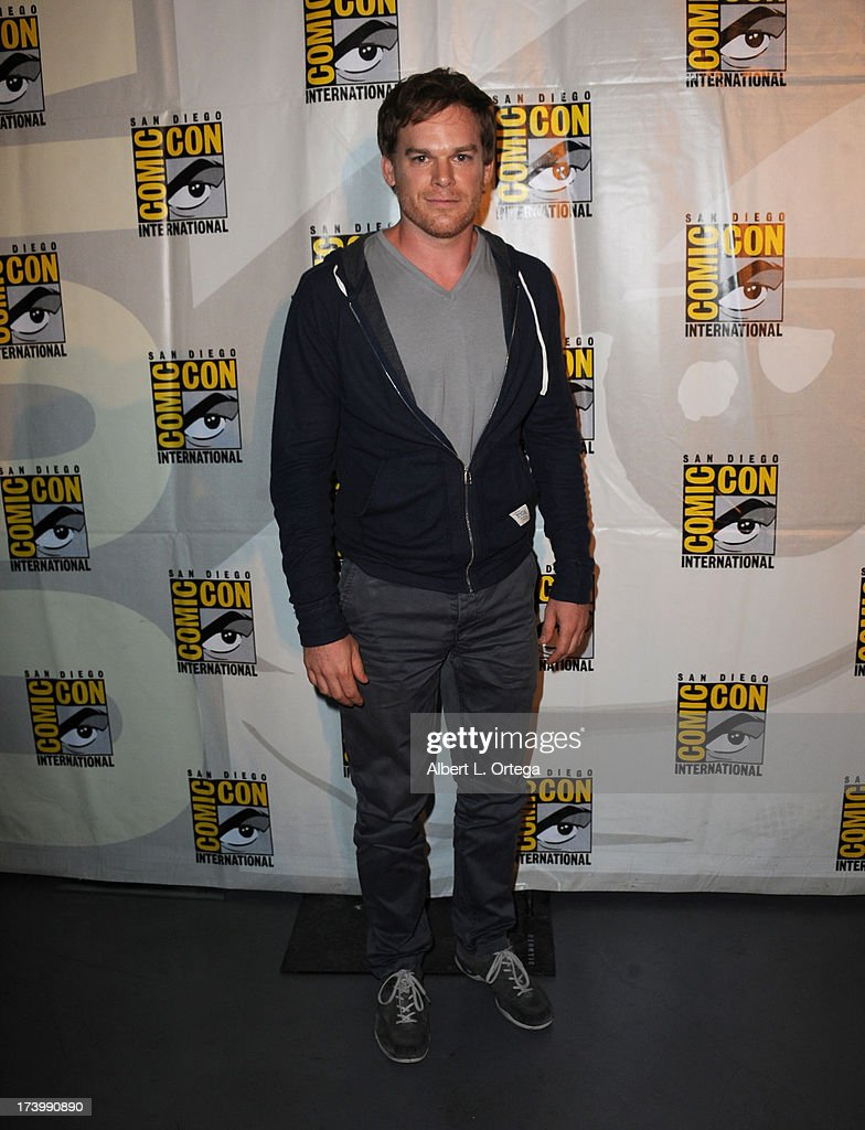 Actor <a gi-track='captionPersonalityLinkClicked' href=/galleries/search?phrase=Michael+C.+Hall+-+Actor&family=editorial&specificpeople=680229 ng-click='$event.stopPropagation()'>Michael C. Hall</a> attends Showtime's 'Dexter' panel during Comic-Con International 2013 at San Diego Convention Center on July 18, 2013 in San Diego, California.