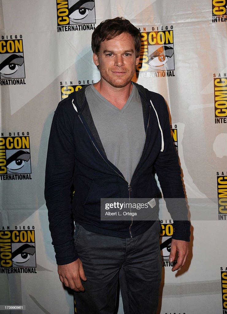 Actor Michael C Hall attends Showtime's 'Dexter' panel during ComicCon International 2013 at San Diego Convention Center on July 18 2013 in San Diego...