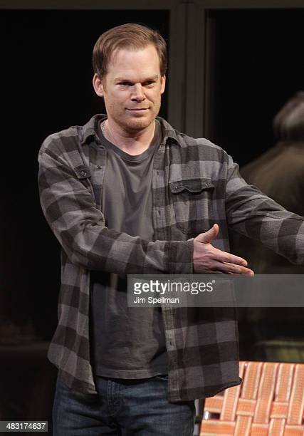 Actor Michael C Hall attends the Broadway opening night of 'The Realistic Joneses' at The Lyceum Theater on April 6 2014 in New York City