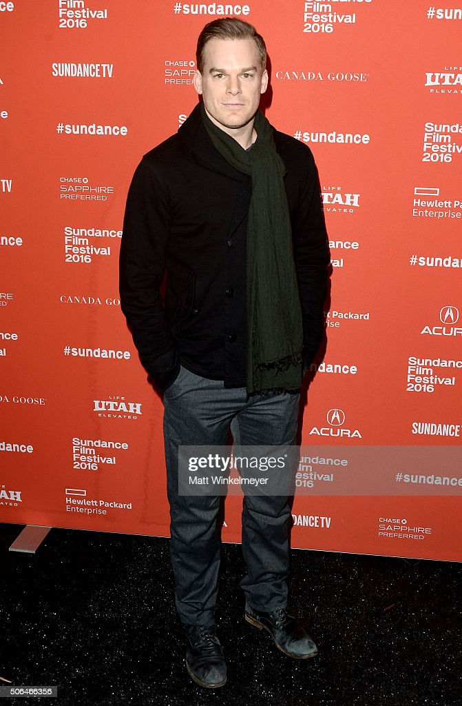Actor Michael C. Hall attends the 'Christine' Premiere during 2016 Sundance Film Festival at Library Center Theater on January 23, 2016 in Park City, Utah.