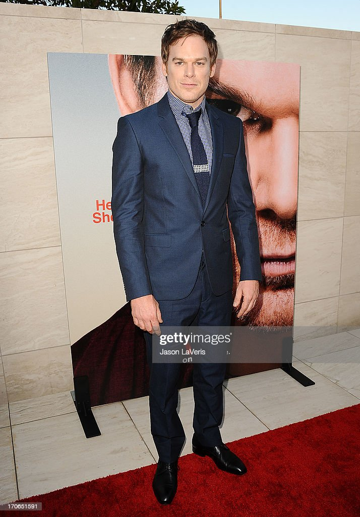 Actor Michael C Hall attends the 'Dexter' series finale season premiere party at Milk Studios on June 15 2013 in Hollywood California