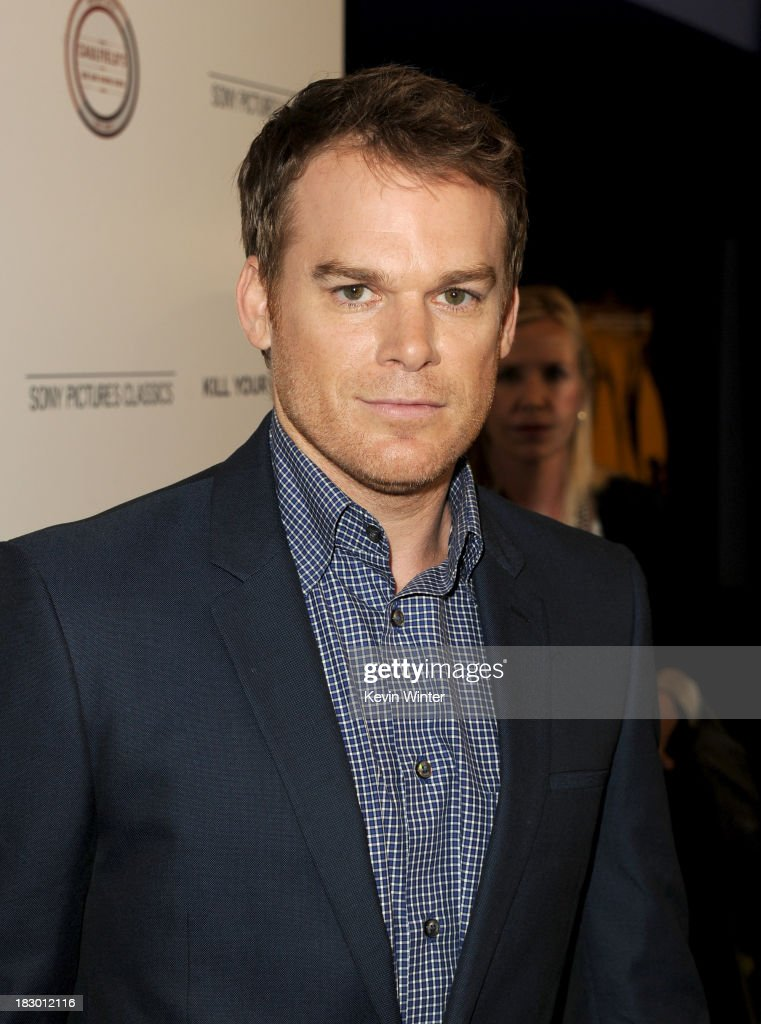 Actor <a gi-track='captionPersonalityLinkClicked' href=/galleries/search?phrase=Michael+C.+Hall+-+Actor&family=editorial&specificpeople=680229 ng-click='$event.stopPropagation()'>Michael C. Hall</a> attends the premiere of Sony Pictures Classics' 'Kill Your Darlings' at Writers Guild Theater on October 3, 2013 in Beverly Hills, California.