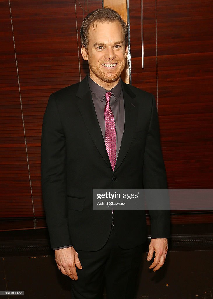 Actor <a gi-track='captionPersonalityLinkClicked' href=/galleries/search?phrase=Michael+C.+Hall+-+Actor&family=editorial&specificpeople=680229 ng-click='$event.stopPropagation()'>Michael C. Hall</a> attends the 'The Realistic Joneses' opening night after party at The Redeye Grill on April 6, 2014 in New York City.