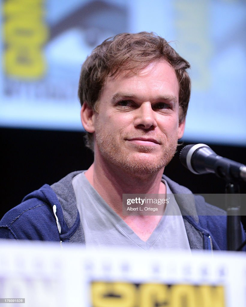 Actor Michael C Hall participates in Showtime's 'Dexter' panel on Day 1 of the 2013 ComicCon International held at San Diego Convention Center on...