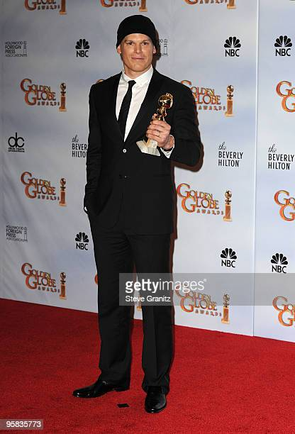 Actor Michael C Hall poses in the press room at the 67th Annual Golden Globe Awards at The Beverly Hilton Hotel on January 17 2010 in Beverly Hills...