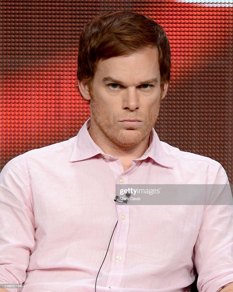 Actor Michael C Hall speaks at the 'Dexter' discussion panel during the Showtime portion of the 2012 Summer Television Critics Association tour at...