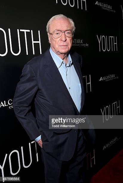 Actor Michael Caine arrives at the Los Angeles Premiere of Fox Searchlight's 'Youth' at the Directors Guild Theatre on November 17 2015 in Los...