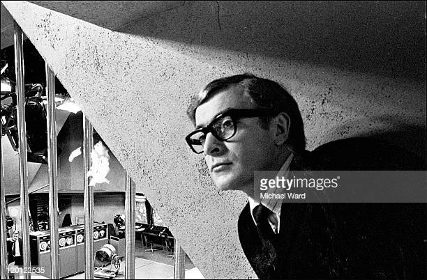 Actor Michael Caine at Pinewood to film 'The Billion Dollar Brain' 1967