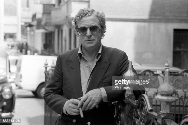 Actor Michael Caine in LOndon for the charity premiere of his new film 'The Whistle Blower' to be attended by the Duchess of Gloucester at the Odeon...