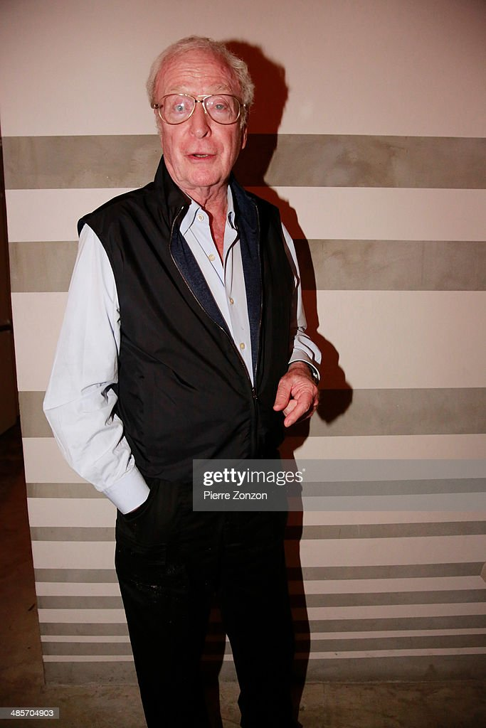 Actor Michael Caine seen at Seasalt and Pepper on April 19, 2014 in Miami, Florida.