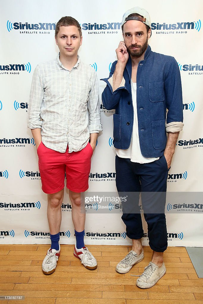 Actor <a gi-track='captionPersonalityLinkClicked' href=/galleries/search?phrase=Michael+Cera&family=editorial&specificpeople=226654 ng-click='$event.stopPropagation()'>Michael Cera</a> and director <a gi-track='captionPersonalityLinkClicked' href=/galleries/search?phrase=Sebastian+Silva&family=editorial&specificpeople=5671020 ng-click='$event.stopPropagation()'>Sebastian Silva</a> visit the SiriusXM Studios on July 10, 2013 in New York City.