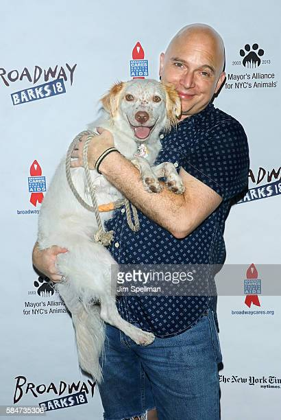Actor Michael Cerveris attends the 18th Annual Broadway Barks at Shubert Alley on July 30 2016 in New York City