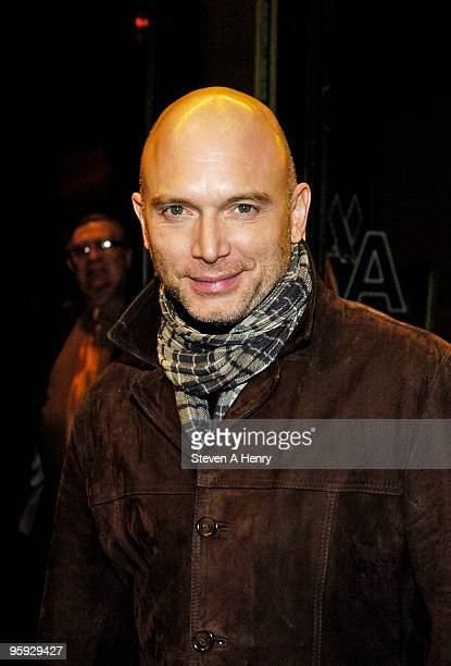 Actor Michael Cerveris attends the opening night of 'Present Laughter' on Broadway at the American Airlines Theatre on January 21 2010 in New York...
