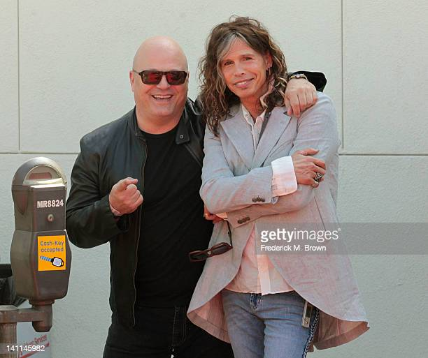 Actor Michael Chiklis and recording artist Steven Tyler attend the 9th Annual John Varvatos Stuart House Benefit on March 11 2012 in West Hollywood...