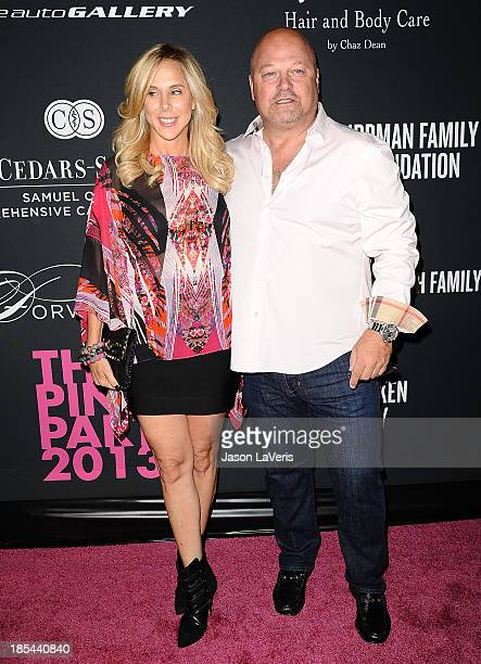 Actor Michael Chiklis and wife Michelle Moran attend the 2013 Pink Party at Hangar 8 on October 19 2013 in Santa Monica California