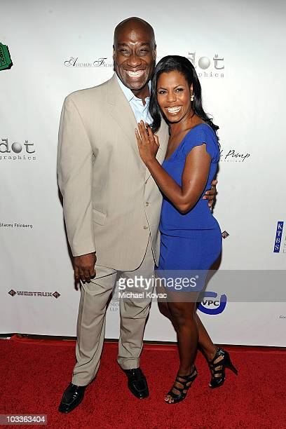 Actor Michael Clarke Duncan and TV personality Omarosa ManigaultStallworth arrive at the 10th Annual Harold Pump Foundation Gala at the Hyatt Regency...