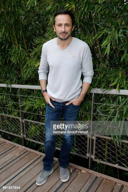 Actor Michael Cohen attends the 2017 French Tennis Open Day Seven at Roland Garros on June 3 2017 in Paris France