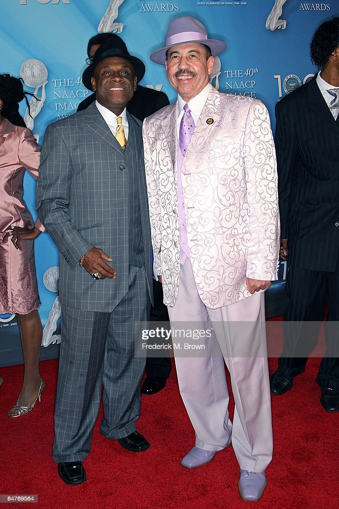 Actor Michael Colyar and Judge Craig S. Strong arrive at the 40th NAACP Image Awards held at the Shrine Auditorium on February 12, 2009 in Los Angeles, California.