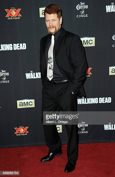 Actor Michael Cudlitz arrives for the Season 5 Premiere Of 'The Walking Dead' held at AMC Universal City Walk on October 2 2014 in Universal City...