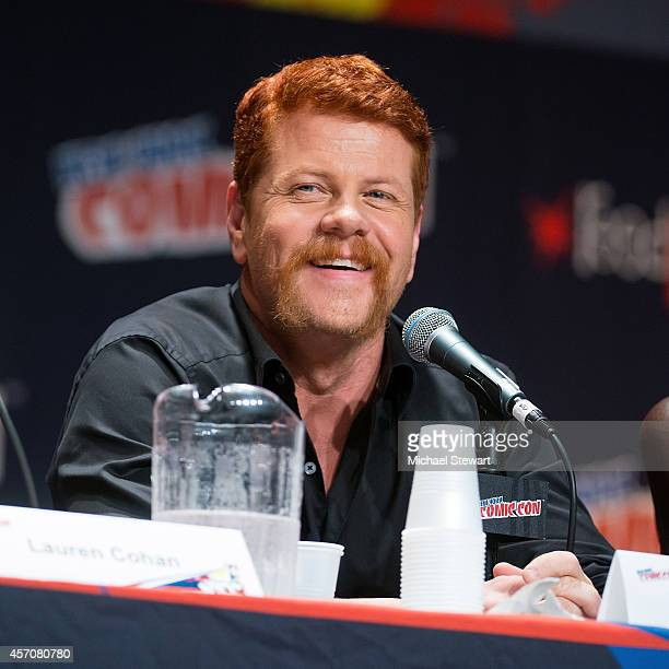 Actor Michael Cudlitz attends AMC's 'The Walking Dead' panel at 2014 New York Comic Con Day 3 at Jacob Javitz Center on October 11 2014 in New York...