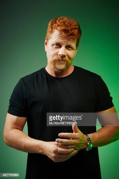 Actor Michael Cudlitz poses for a portrait at the Getty Images Portrait Studio powered by Samsung Galaxy at ComicCon International 2014 at Hard Rock...