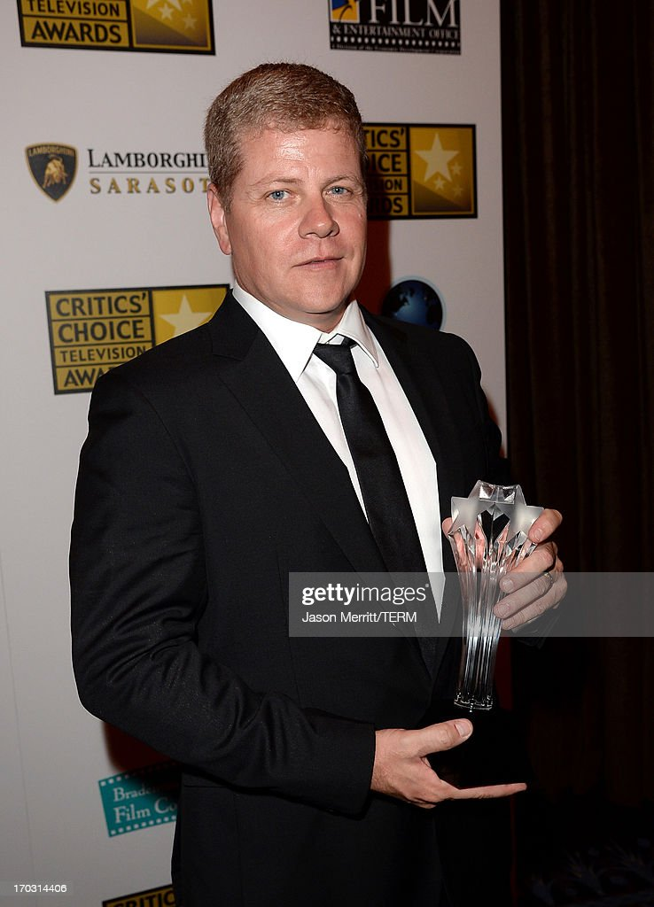 Actor Michael Cudlitz poses with the Best Supporting Actor in a Drama Series award for 'Southland' at the Broadcast Television Journalists Association's third annual Critics' Choice Television Awards at The Beverly Hilton Hotel on June 10, 2013 in Los Angeles, California.