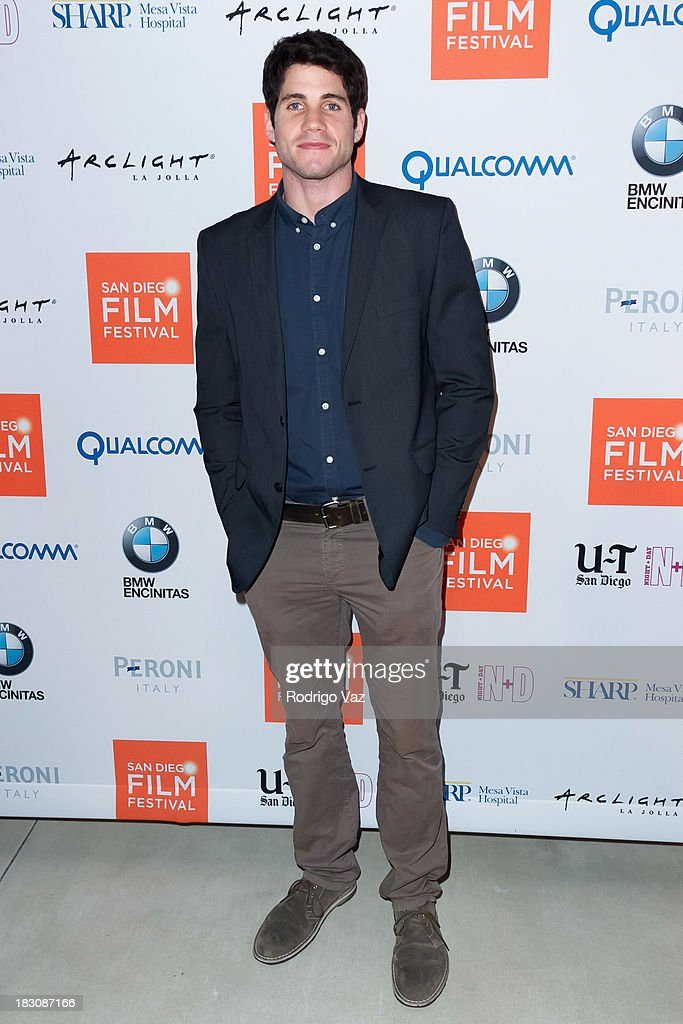Actor Michael Doneger arrives at San Diego Film Festival's tribute to honor Judd Apatow at Museum of Contemporary Art on October 3, 2013 in La Jolla, California.