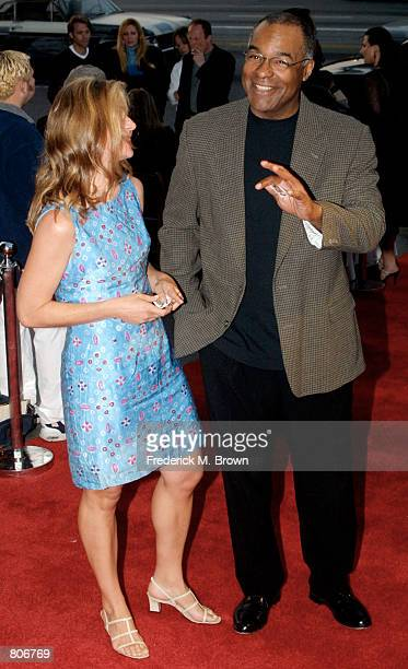 Actor Michael Dorn and his wife Kelly arrive for the premiere screening of 'Pretty When You Cry' May 1 2001 in Los Angeles CA