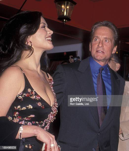 Actor Michael Douglas and actress Catherine Zeta Jones attend Michael DouglasCatherine Zeta Jones Wedding Rehearsal Dinner on November 17 2000 at the...