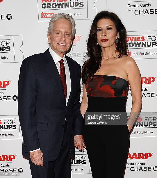 Actor Michael Douglas and actress Catherine ZetaJones attend the 15th annual Movies For Grownups Awards at the Beverly Wilshire Four Seasons Hotel on...