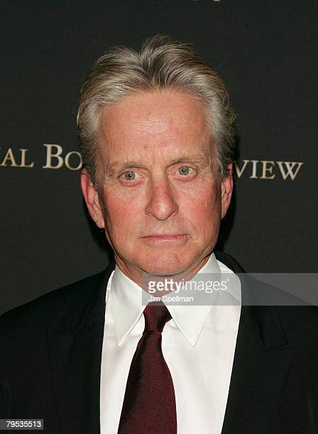 Actor Michael Douglas arrives at the 2007 National Board of Review of Motion Pictures Awards Gala at Cipriani's 42nd St on January 15 2008 in New...