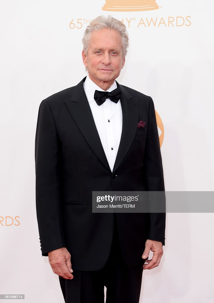 Actor Michael Douglas arrives at the 65th Annual Primetime Emmy Awards held at Nokia Theatre LA Live on September 22 2013 in Los Angeles California