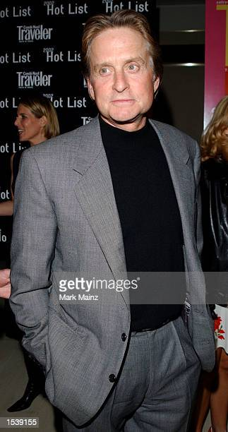 Actor Michael Douglas arrives at the Conde Nast Traveler Hot List party at the W Hotel May 1 2002 in New York City