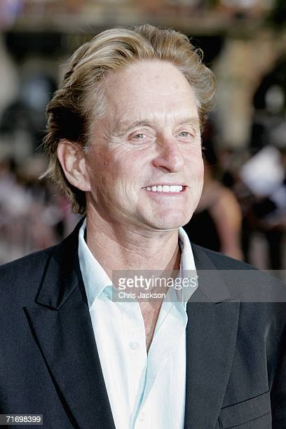 Actor Michael Douglas arrives at the UK premiere of 'You Me and Dupree' at the Odeon West End cinema on August 22 2006 in London England The...
