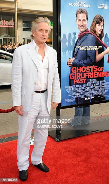 Actor Michael Douglas arrives for the world premiere of 'Ghosts of Girlfriends Past' at the Grauman's Chinese Theater in Hollywood California on...