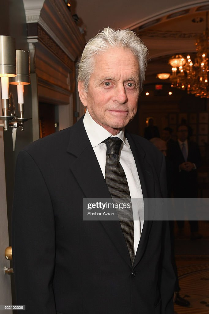 Actor Michael Douglas at the 2016 World Jewish Congress Herzl Award Dinner at The Pierre Hotel on November 9, 2016 in New York City.