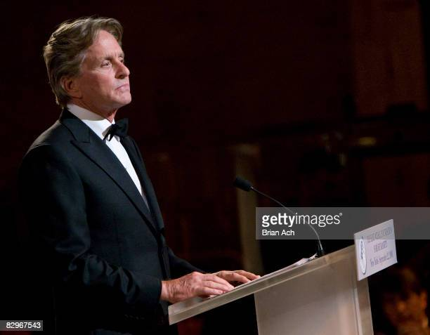 Actor Michael Douglas at the Elie Wiesel Foundation for Humanity to Honor French President Nicolas Sarkozy event at Cipriani on September 22 2008 in...