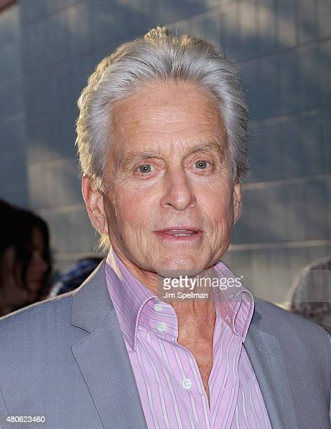 Actor Michael Douglas attends a Marvel's screening of 'AntMan' hosted by The Cinema Society and Audi on July 13 2015 in New York City