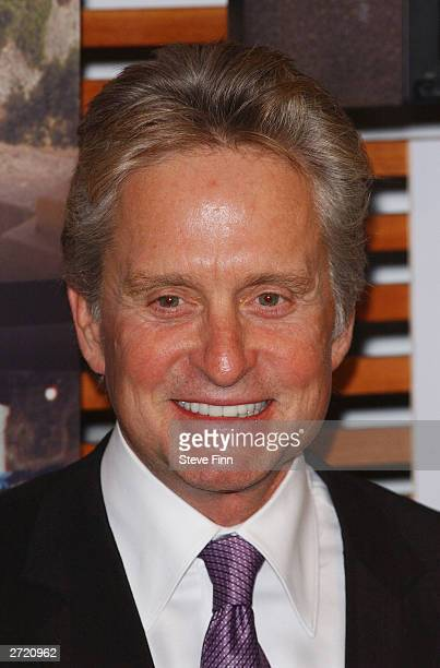 Actor Michael Douglas attends an event to promote the Spanish tourist board November 12 2003 at the Excel Arena in London