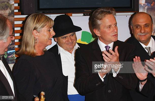 Actor Michael Douglas attends an event to promote the Spanish tourist board at the Excel Arena on November 12 2003 in London