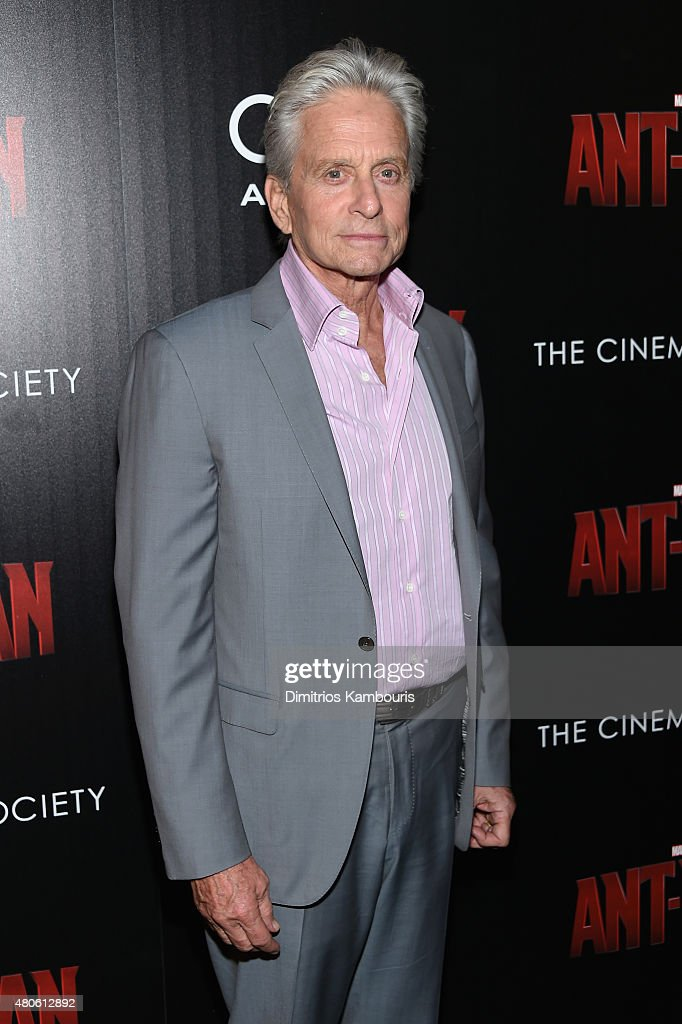 Actor <a gi-track='captionPersonalityLinkClicked' href=/galleries/search?phrase=Michael+Douglas&family=editorial&specificpeople=171111 ng-click='$event.stopPropagation()'>Michael Douglas</a> attends Marvel's screening of 'Ant-Man' hosted by The Cinema Society and Audi at SVA Theater on July 13, 2015 in New York City.