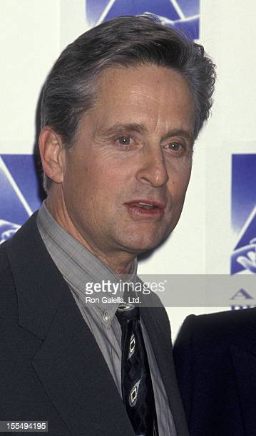 Actor Michael Douglas attends Seventh Annual APLA Commitment To Life Benefit on January 19 1995 at the Universal Ampitheater in Universal City...