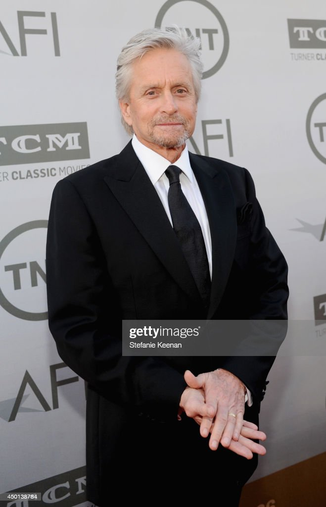 Actor <a gi-track='captionPersonalityLinkClicked' href=/galleries/search?phrase=Michael+Douglas&family=editorial&specificpeople=171111 ng-click='$event.stopPropagation()'>Michael Douglas</a> attends the 2014 AFI Life Achievement Award: A Tribute to Jane Fonda at the Dolby Theatre on June 5, 2014 in Hollywood, California. Tribute show airing Saturday, June 14, 2014 at 9pm ET/PT on TNT.