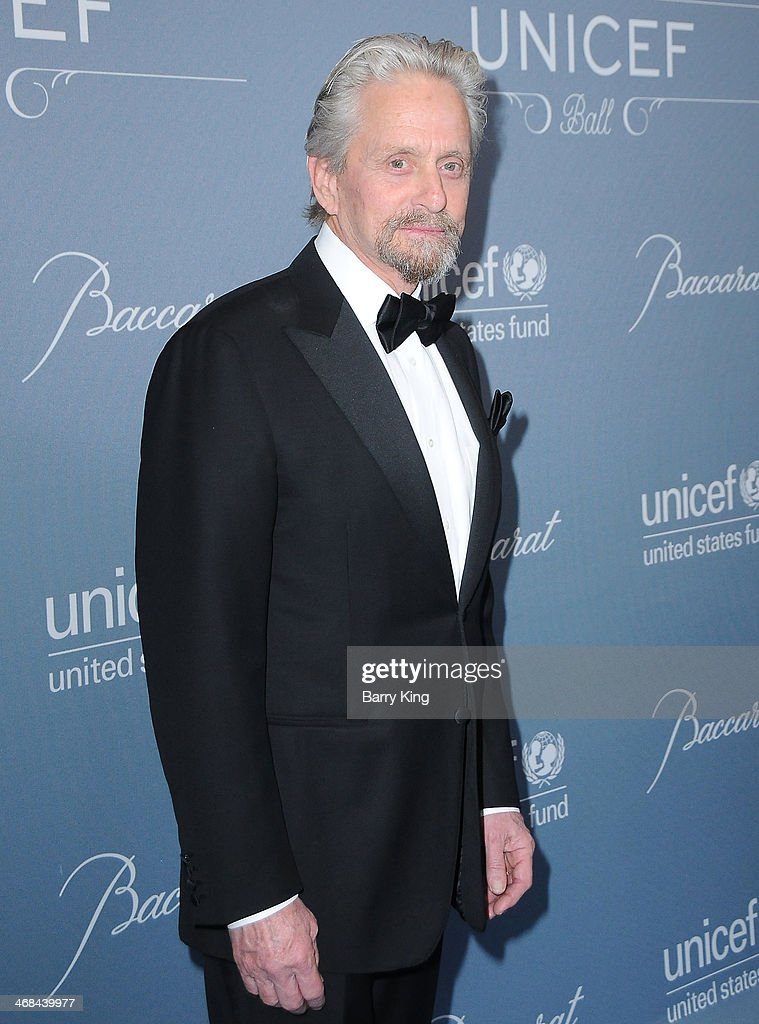 Actor <a gi-track='captionPersonalityLinkClicked' href=/galleries/search?phrase=Michael+Douglas&family=editorial&specificpeople=171111 ng-click='$event.stopPropagation()'>Michael Douglas</a> attends the 2014 UNICEF Ball presented by Baccarat on January 14, 2014 at Regent Beverly Wilshire Hotel in Beverly Hills, California.