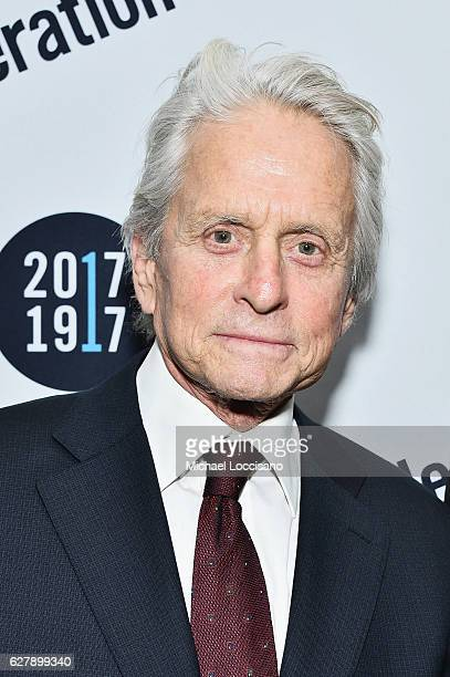 Actor Michael Douglas attends the 2016 UJAFederation of New York Wall Street Dinner at the New York Hilton Midtown on December 5 2016 in New York City