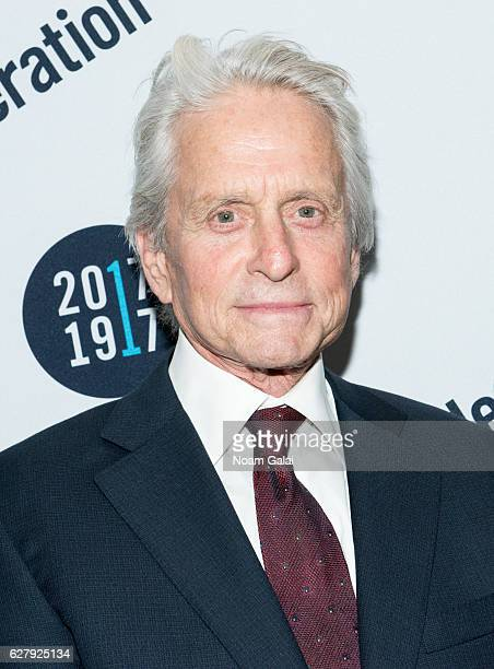 Actor Michael Douglas attends the 2016 UJAFederation of New York Wall Street Dinner at New York Hilton Midtown on December 5 2016 in New York City