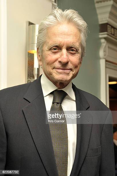 Actor Michael Douglas attends the 2016 World Jewish Congress Herzl Award Dinner at The Pierre Hotel on November 9 2016 in New York City